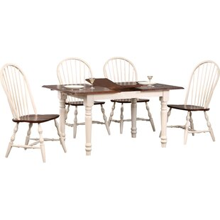 Lockwood Butterfly Leaf 5 Piece Dining Set Loon Peak