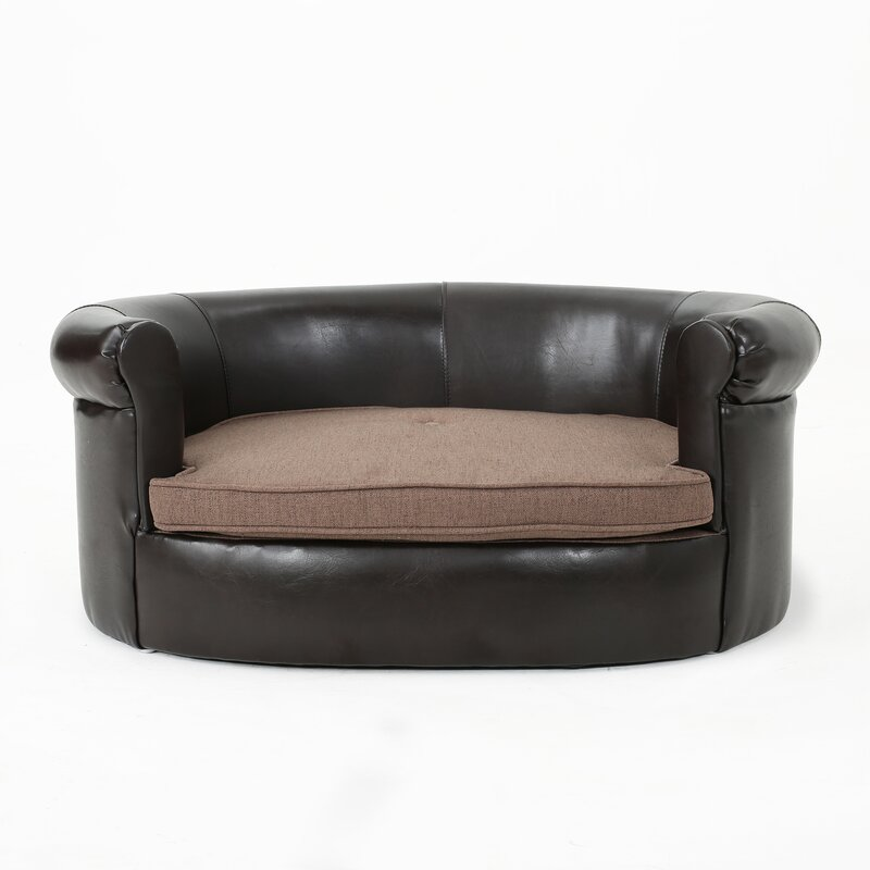 Desmond Leather Dog Sofa & Reviews | Joss & Main