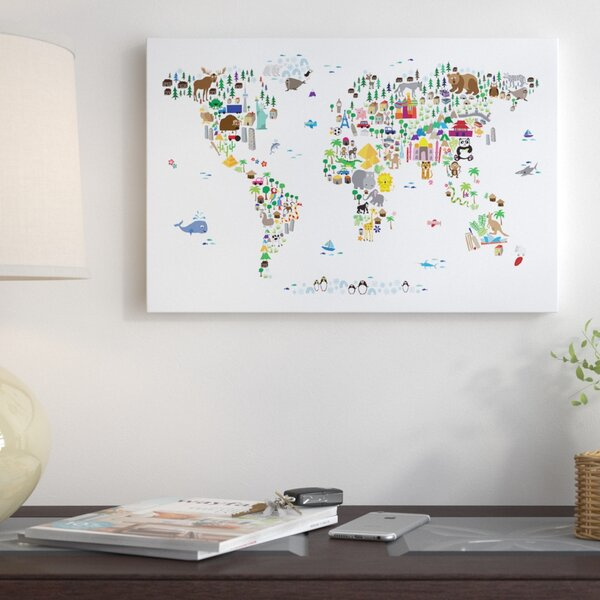 East urban home animal map of the world graphic art print east urban home animal map of the world graphic art print reviews wayfair gumiabroncs Choice Image