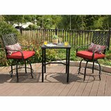 Stockwell Outdoor 3 Piece Bistro Set with Cushions