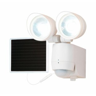 Cooper Lighting LLC All-Pro LED Solar Power Outdoor Security Flood Light with Motion Sensor