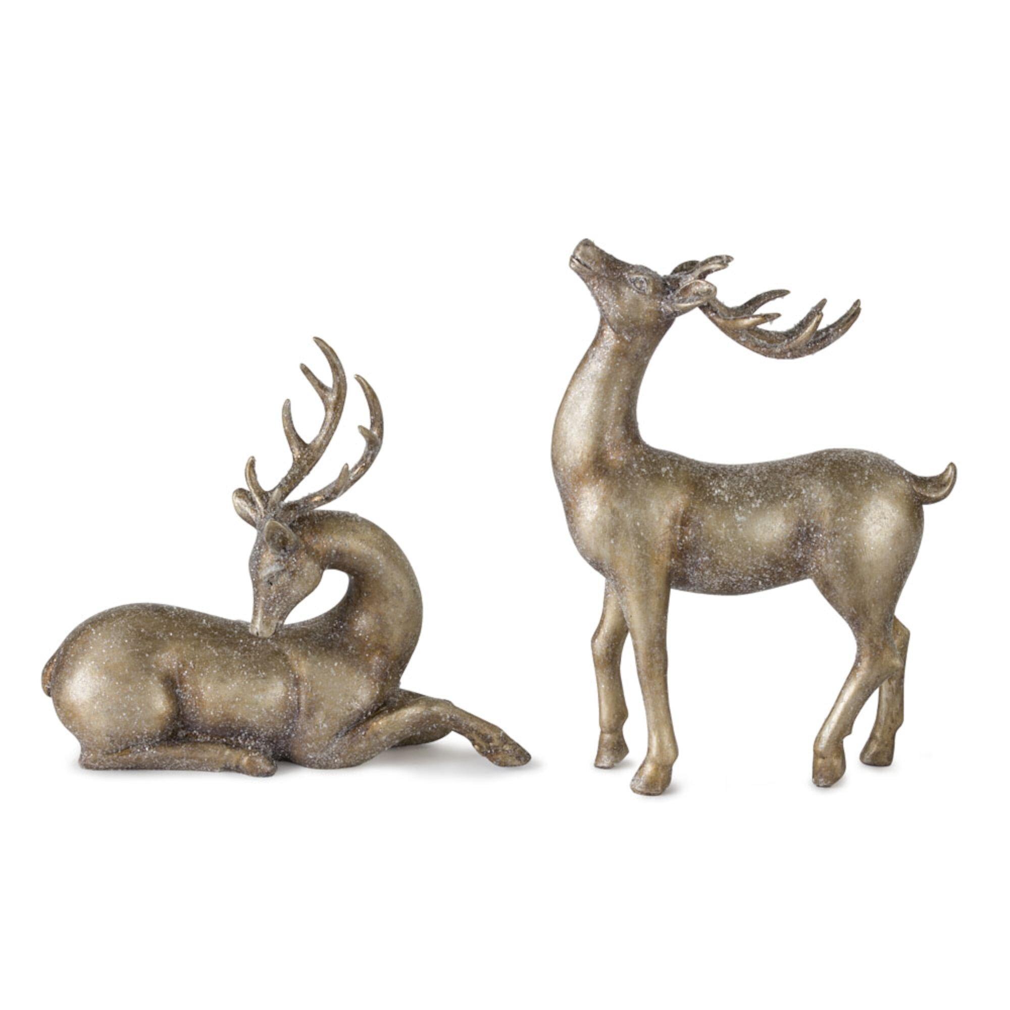 Gold Reindeer Figurines You Ll Love In 2021 Wayfair