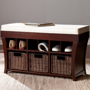 Campos Wood Storage Bench by Darby Home Co