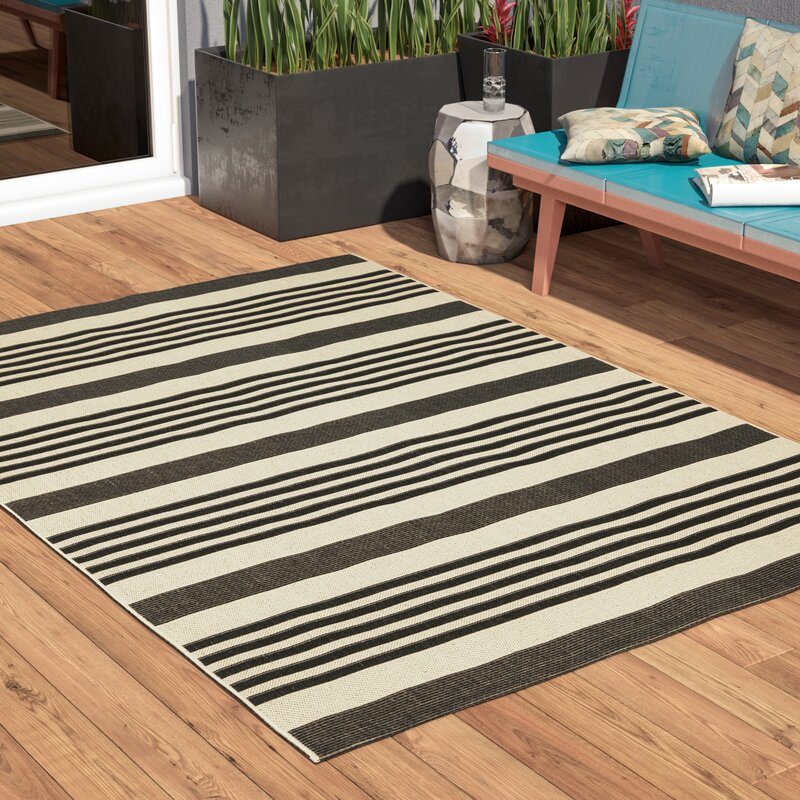 a19cb594c4f3 Andover Mills Faye Black Indoor Outdoor Area Rug   Reviews