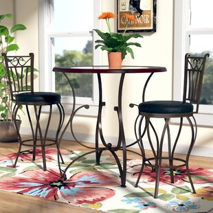 Gravity 3 Piece Counter Height Dining Set by Red Barrel Studio