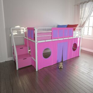 Galvan Junior Metal Twin Low Loft Bed by Isabelle amp Max