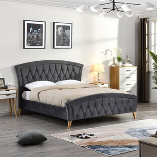 Beaumont Double (4'6) Upholstered Bed Frame By Mikado Living