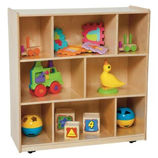 Reviews Center 8 Compartment Shelving Unit with Casters by Wood Designs Reviews (2019) & Buyer's Guide