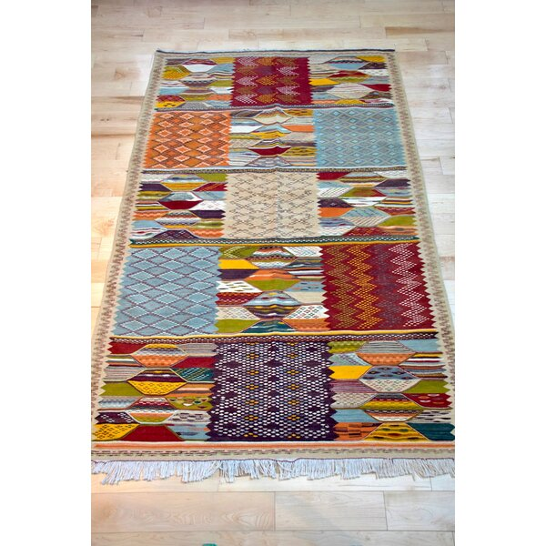 Isabelline One Of A Kind Fleming Hand Knotted Maroon 5 X 8 1 Wool Area Rug Wayfair