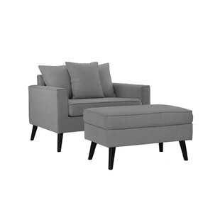 Pogue Arm Chair and Ottoman by Latitude Run