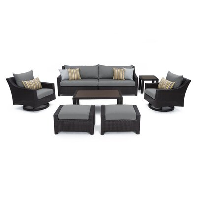 Superb Three Posts Northridge 8 Piece Sofa Set With Cushions Fabric Evergreenethics Interior Chair Design Evergreenethicsorg