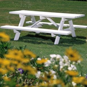 Picnic Table With Bench by Seaside Casual 2019 Sale