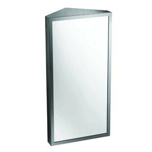 Windbrook Mirrored Triple Shelf 12 X 24 Corner Mount Frameless Medicine Cabinet