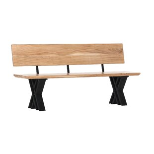 Solid Wood Bench By Williston Forge