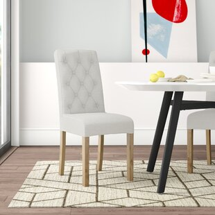 Emory Button Back Upholstered Dining Chair (Set Of 2) By Hykkon