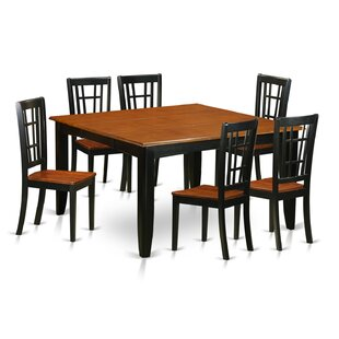 Pilning Modern 7 Piece Wood Dining Set