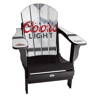 My Custom Sports Chair Coors Light Plastic Folding Adirondack Chair