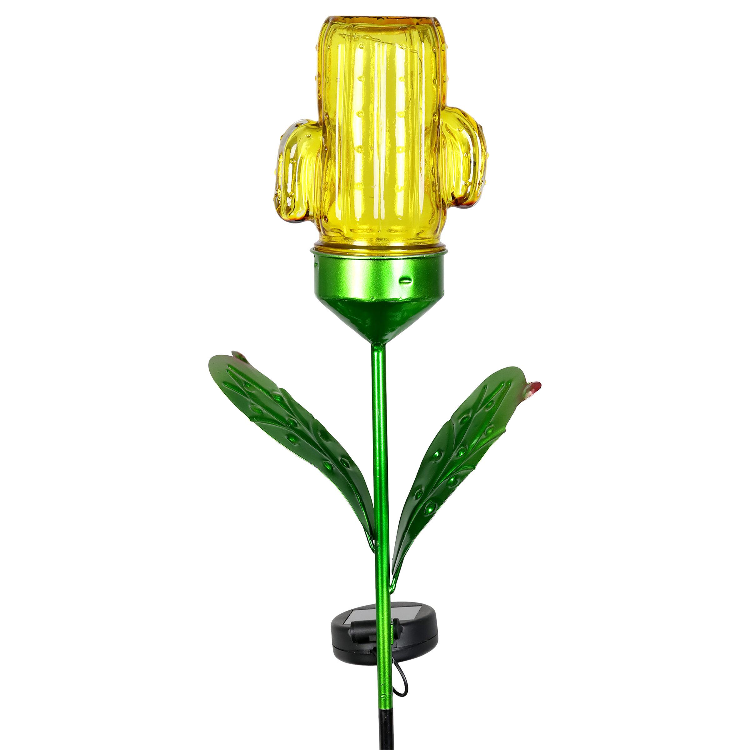 Winston Porter Turk Solar Cactus Garden Stake Wayfair