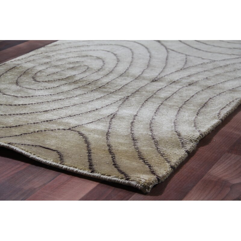 Exquisite Rugs Metropolitan Abstract Hand Knotted Wool Beige Chocolate Area Rug Wayfair