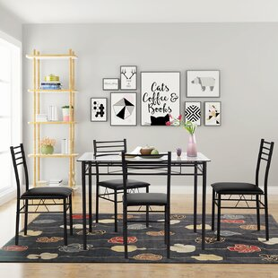 Taulbee 5 Piece Dining Set by Winston Porter Amazing
