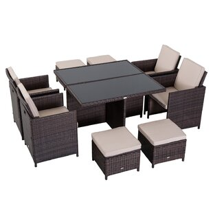 8 Seater Dining Set With Cushions By Outsunny
