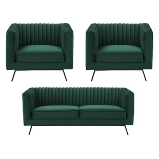 Yorkshire 3 Piece Living Room Set ByEverly Quinn
