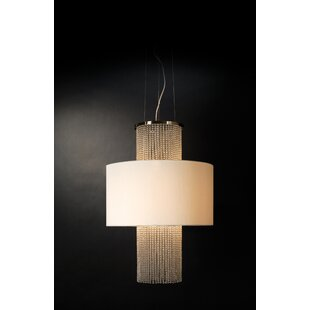 House of Hampton Keil Round 3-Light Drum Pendant