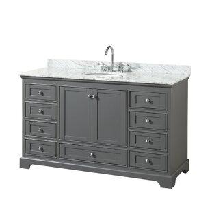 Deborah 60 Single Dark Gray Bathroom Vanity Set By Wyndham Collection