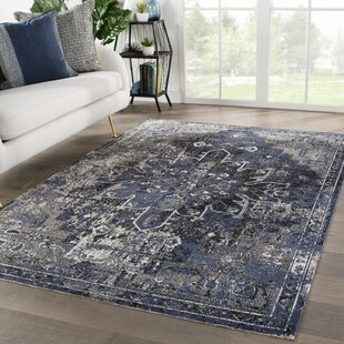 Fauntleroy Medallion Charcoal Indoor/Outdoor Area Rug