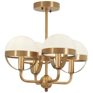 Philippa 4-Light Semi Flush Mount by Mercer41