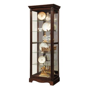 Leafwood Lighted Curio Cabinet by Astoria Grand