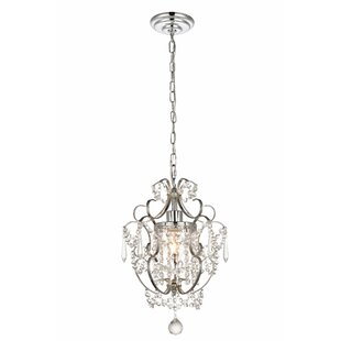 Bottrell 1-Light Crystal Pendant by House of Hampton
