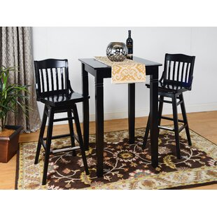 Earleton Swivel 3 Piece Pub Table Set