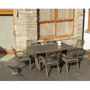 Yatra 6 Seater Dining Set With Cushions By Sol 72 Outdoor
