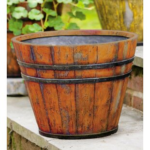 Mulhall Resin Barrel Planter By Brambly Cottage