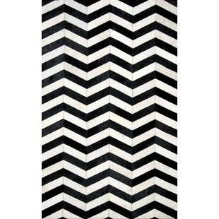 Ibanez Hand -Tufted Black/White Area Rug By Brayden Studio