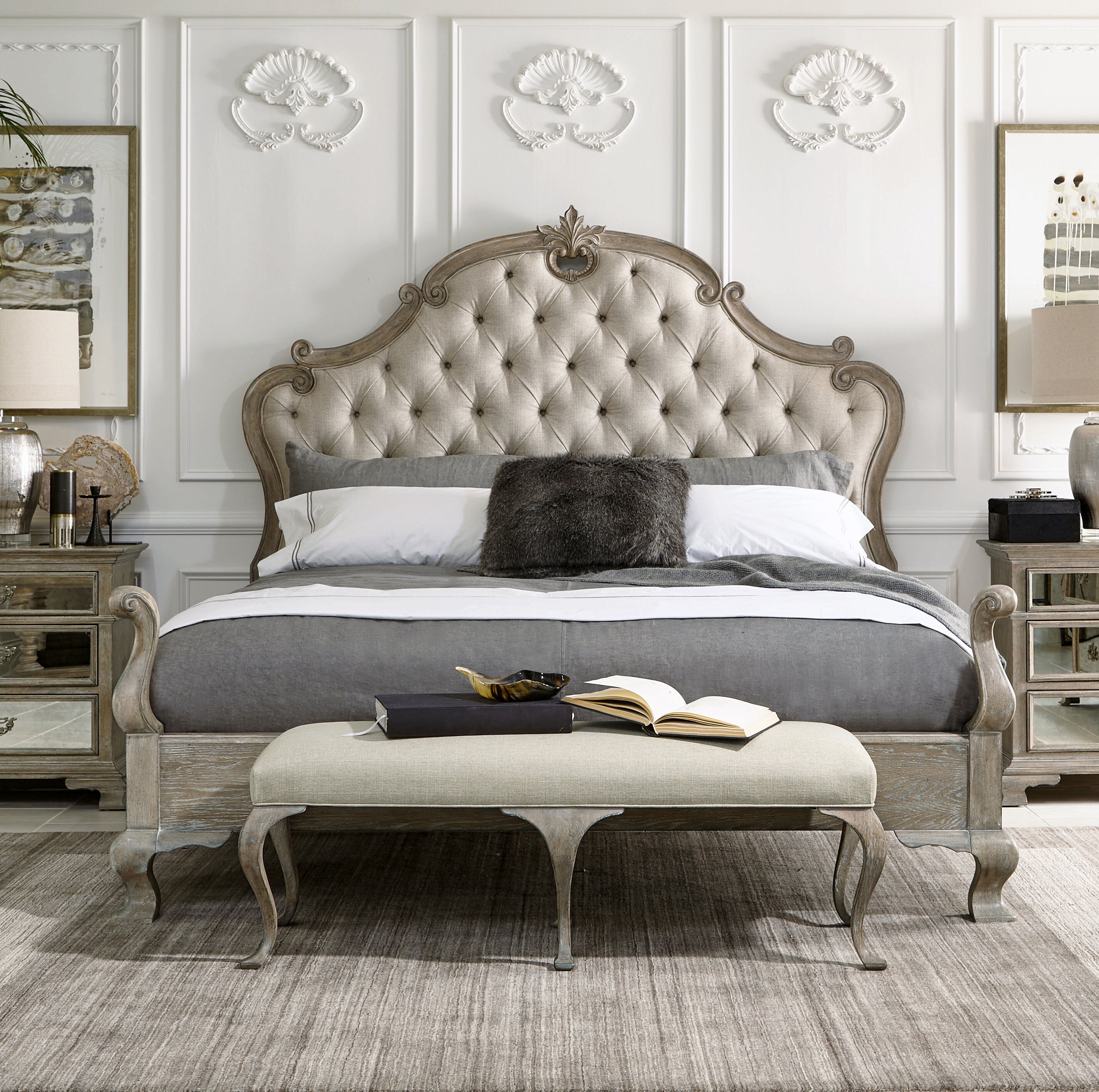 Bernhardt Campania Tufted Solid Wood And Upholstered Standard Bed Reviews Perigold