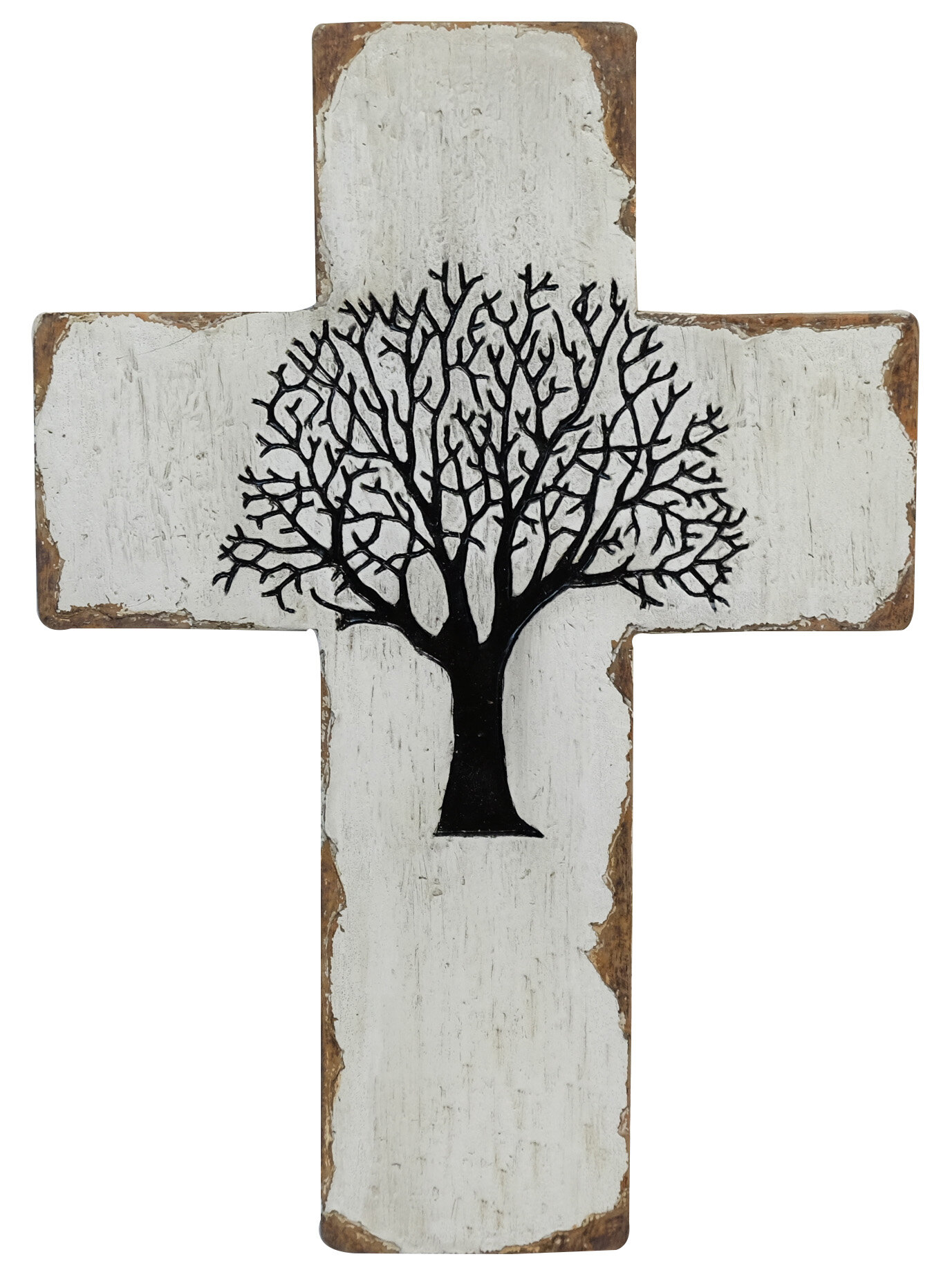 Gracie Oaks Wood Tree Of Life Cross Wall Décor Wayfair
