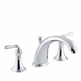Compare prices Devonshire Deck-/Rim-Mount Bath Faucet Trim for High-Flow Valve with 8-15/16 Diverter Spout and Lever Handles, Valve Not Included ByKohler