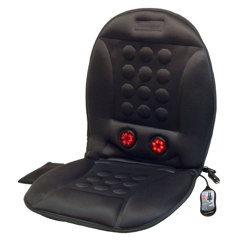 Wagan IN9989 12V Infra-Heat Massage Magnetic Cushion with AC Adapter
