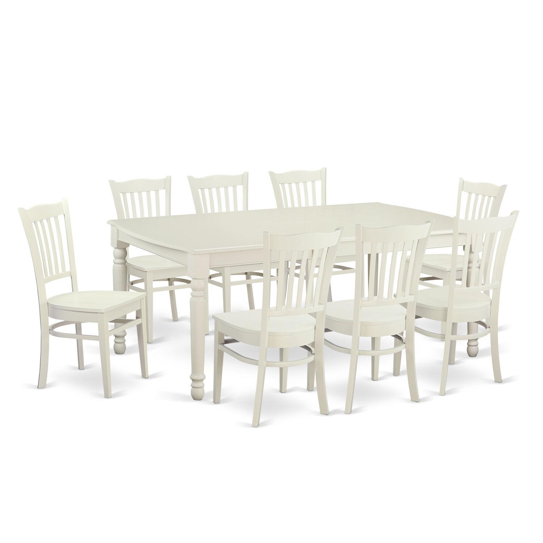 Superior Wooden Importers Dover 9 Piece Dining Set U0026 Reviews | Wayfair