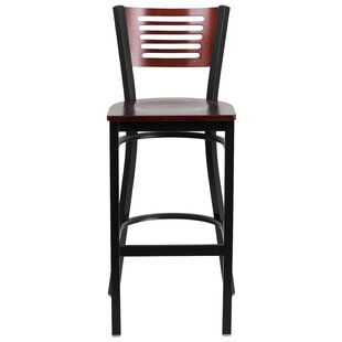 Chafin Slat Back Metal 30 Bar Stool Winston Porter
