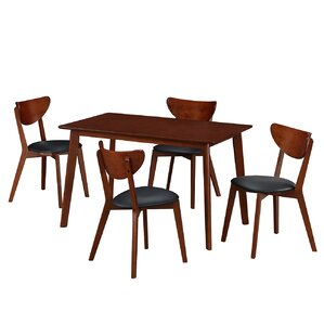 Bulgera Modern Wood 5 Piece Dining Set by Georg..