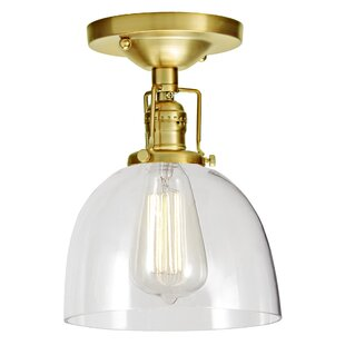 Shumway 1-Light Semi Flush Mount by Breakwater Bay
