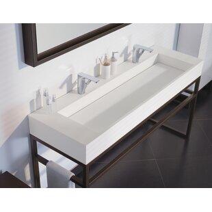Marco Ceramic Trough Bathroom Sink
