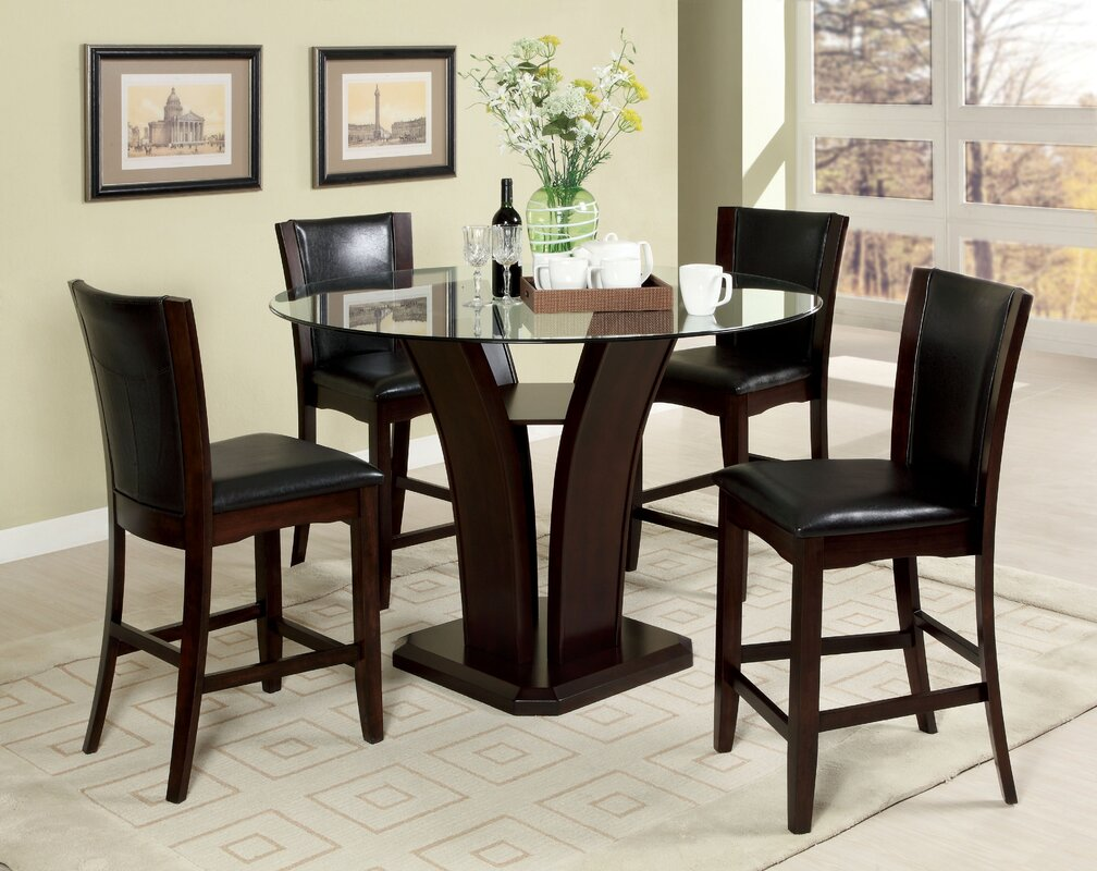 hokku designs uptown  piece counter height dining set  reviews  - defaultname