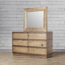 Elliston 6 Drawer Dresser with Mirror by Loon Peak