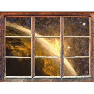 Sun And Earth In Space Wall Sticker By East Urban Home