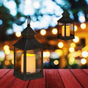 Camren Black Battery Powered Lantern Set (Set Of 2) By Freeport Park