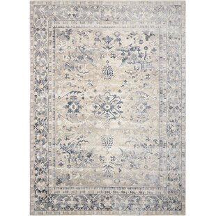 Malta Ivory Blue Area Rug By Kathy Ireland Home Gallery
